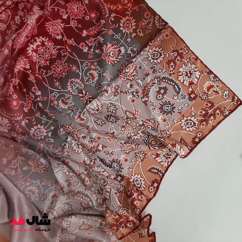 روسری ابریشمی با طرح سنتی