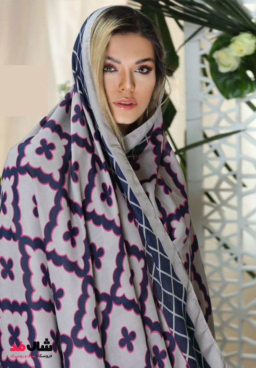 روسری نخی با طرح تلفیقی